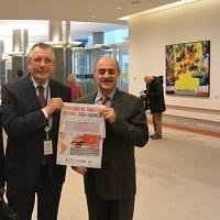 MEP Dennis de Jong and Mr. Davood Arshad