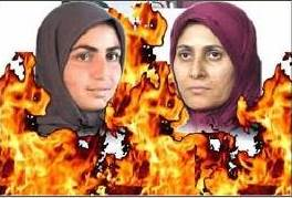 "two women died out of 12 self immolation ordered by the Caliph ""Masoud Rajavi"""