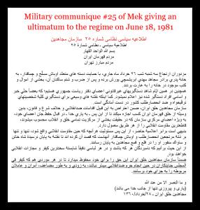 military communique 25