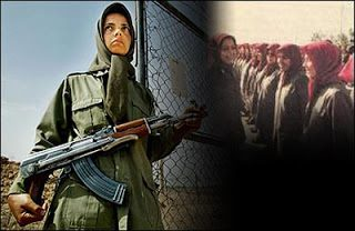Armed Terrorist women members of The PMOI Cult