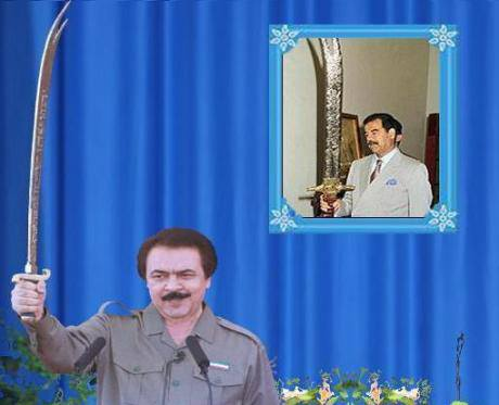 MEK Cult Leader Masoud Rajavi copying Sadam Hossein of Iraq