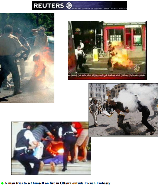 Self Immolations ordered by the PMOI Cult in retaliations against it co-leader in Europe and Canada
