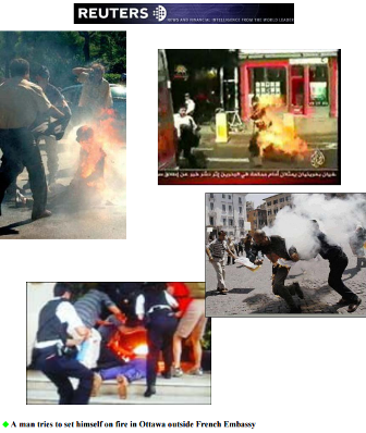 Self Immolations ordered by the PMOI Cult on the streets of Europe and Canada