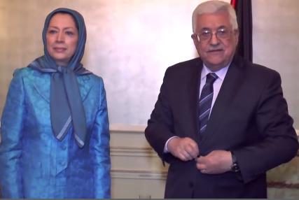 محمود عباس و مریم رجوی