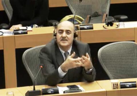 آقای داود ارشد طی سخنانشا در پارلمان اروپا