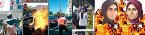 Mek members setting themselves on fire, Mek's arrested members in Paris, Two how died due to self immolation