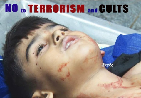 No to terrorism and Cults